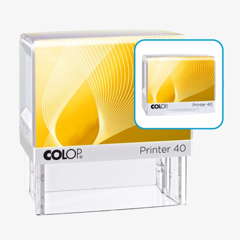 Colop IQ 40 - do 6 linii tekstu, logo