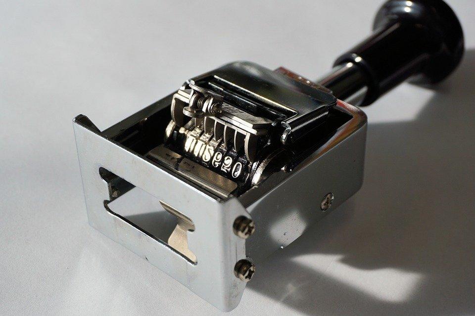 metalowy numerator automatyczny