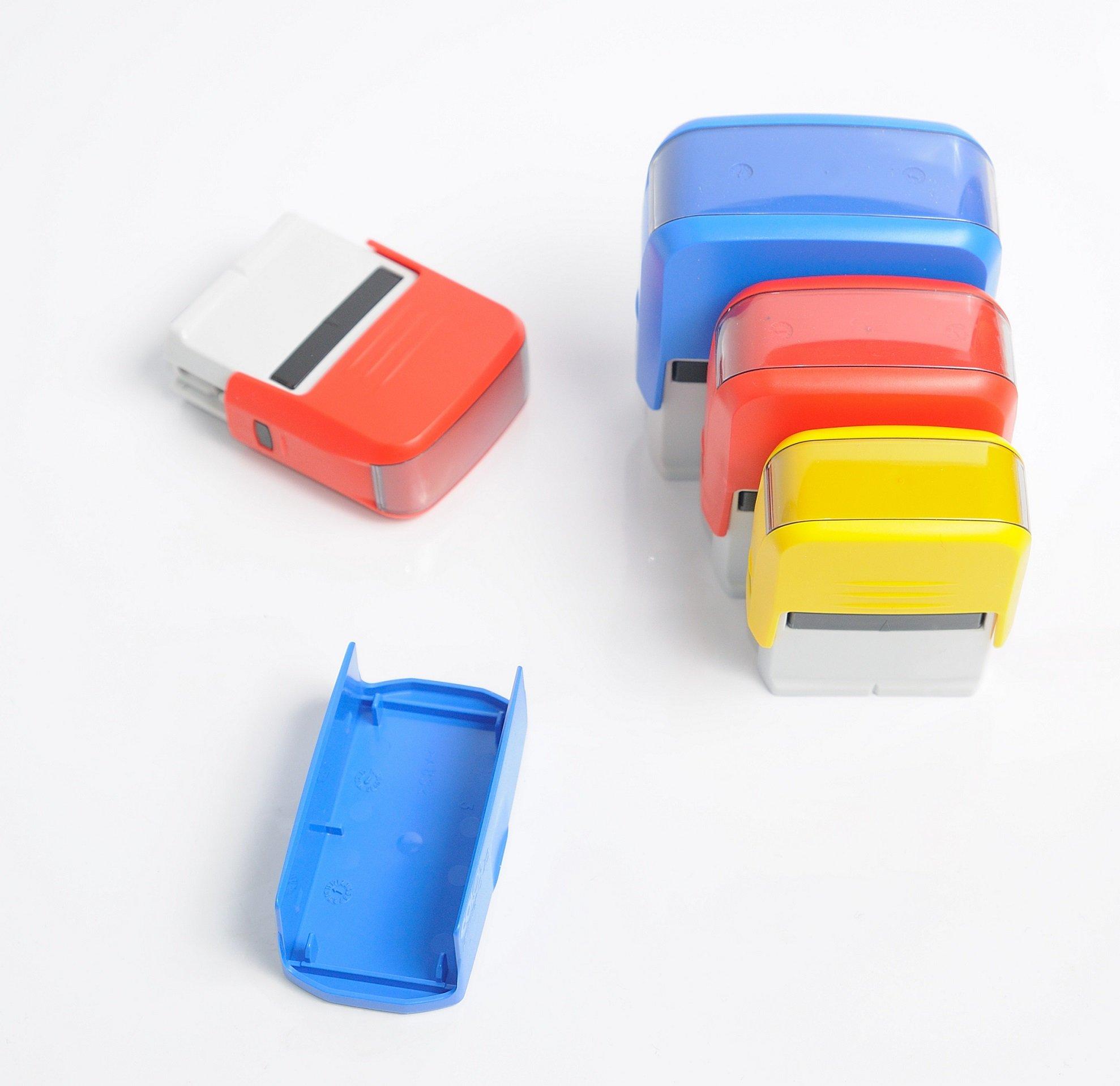 kolorowe modele pieczątek, różne rozmiary pieczątek, pieczątki automatyczne