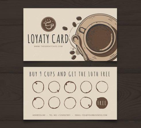 karta lojalnościowa dla kawiarni