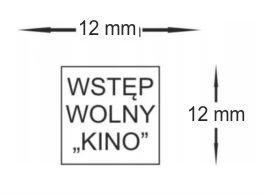 Pieczątka kwadratowa colop q17